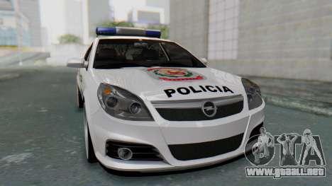 Opel Vectra 2005 Policia para la visión correcta GTA San Andreas