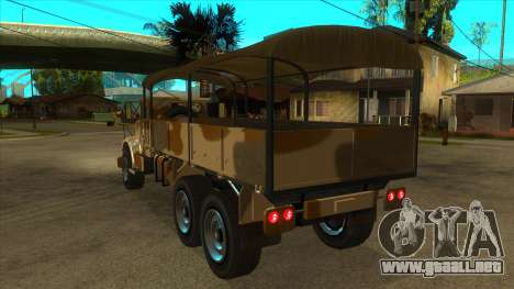 GTA V HVY Barracks OL para GTA San Andreas vista posterior izquierda