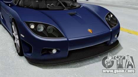 Koenigsegg CCX para la vista superior GTA San Andreas