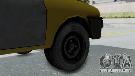 Dacia 1325 Liberta Rusty para GTA San Andreas vista posterior izquierda