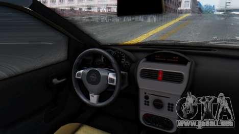 Opel Corsa C Policia para GTA San Andreas vista hacia atrás