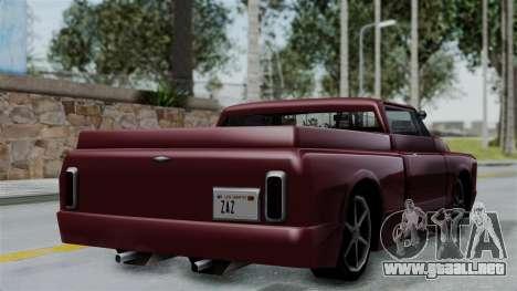 Slamvan Milt-Lorry para GTA San Andreas left