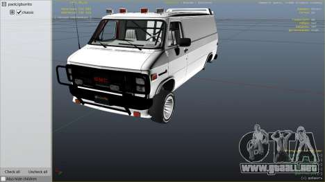 GTA 5 GMC Vandura (A-Team Van) vista lateral derecha