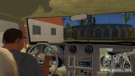 HUMMER H2 Firetruck para visión interna GTA San Andreas