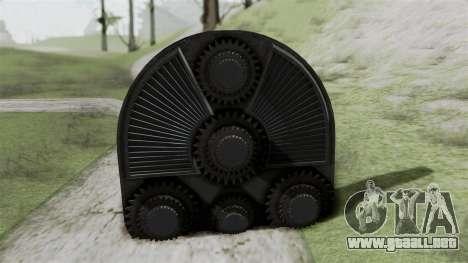 GTA 5 HVY Cutter para GTA San Andreas vista posterior izquierda
