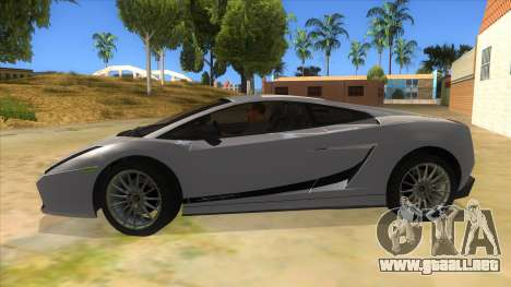 Lamborghini Gallardo 2012 Edition para GTA San Andreas left