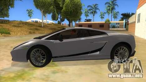 Lamborghini Gallardo 2012 Edition para GTA San Andreas left