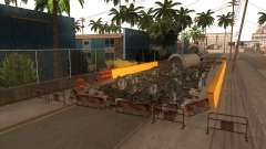 El trabajo de reparación de la Calle Grove