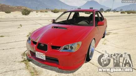 2006 Subaru Impreza WRX STI JDM para GTA 5