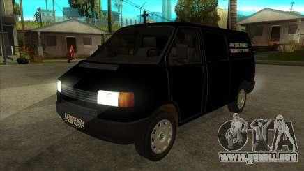VW T4 Mrtvačka ruedas para GTA San Andreas