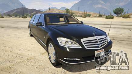 2011 Mercedes-Benz S600 Guard Pullman para GTA 5