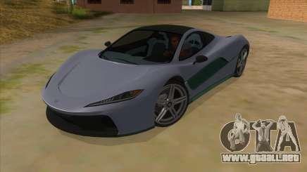 GTA 5 Progen T20 Lights version para GTA San Andreas
