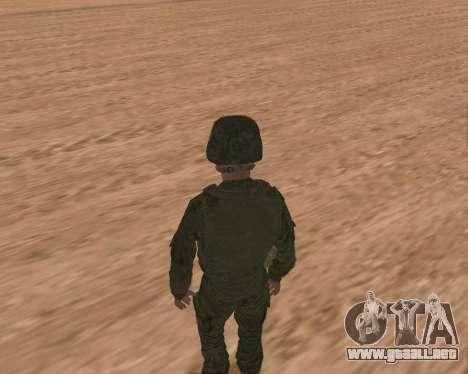 Motorizado privado rifle de tropas para GTA San Andreas sexta pantalla