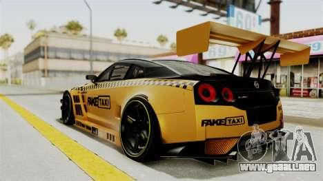 Nissan GT-R Fake Taxi para GTA San Andreas left