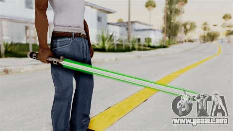 Star Wars LightSaber Green para GTA San Andreas tercera pantalla