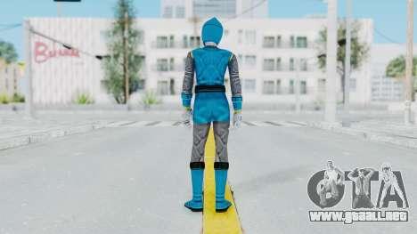 Power Rangers Ninja Storm - Blue para GTA San Andreas tercera pantalla