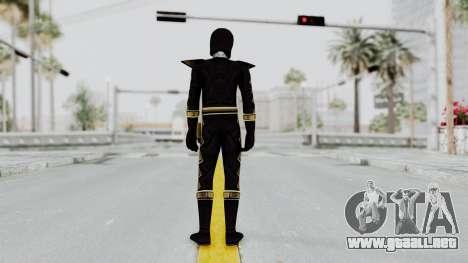 Power Rangers Dino Thunder - Black para GTA San Andreas tercera pantalla
