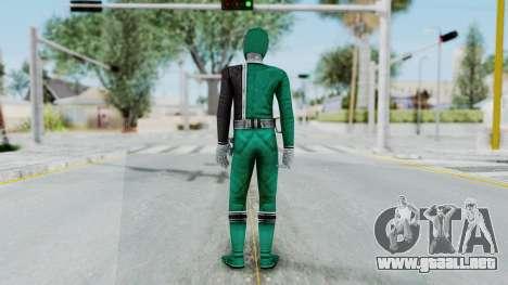 Power Rangers RPM - Green para GTA San Andreas tercera pantalla