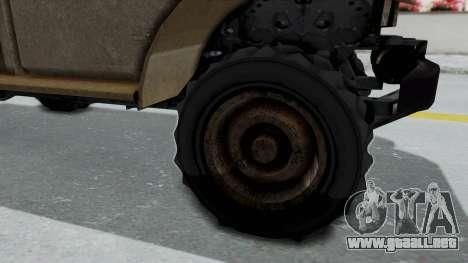 GTA 5 Bravado Duneloader Cleaner Worn para GTA San Andreas vista hacia atrás