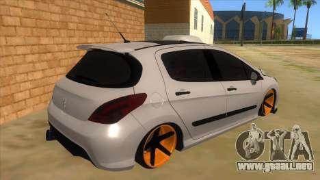 Peugeot 308 Full Sport para la visión correcta GTA San Andreas