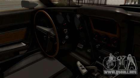 Ford Mustang 1971 Monster Truck para visión interna GTA San Andreas