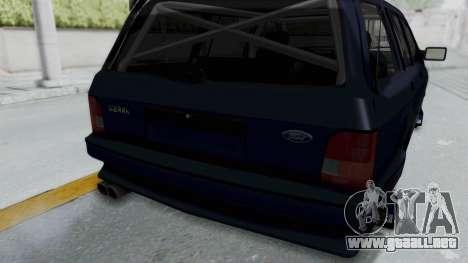 Ford Sierra Turnier 4x4 Saphirre Cosworth para vista lateral GTA San Andreas