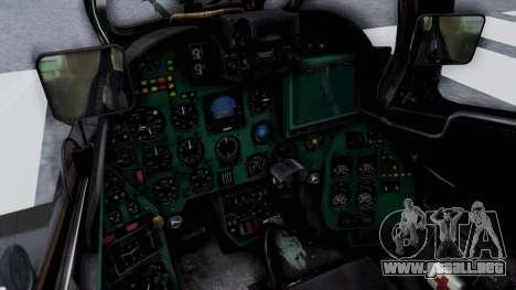 Mi-24V Czech Air Force 7354 para visión interna GTA San Andreas