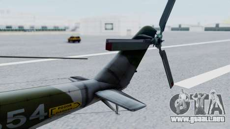 Mi-24V Czech Air Force 7354 para GTA San Andreas vista posterior izquierda