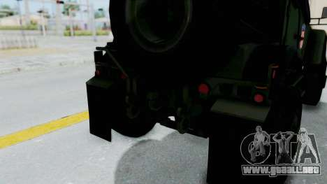 Croatian Oshkosh M-ATV Woodland para GTA San Andreas interior