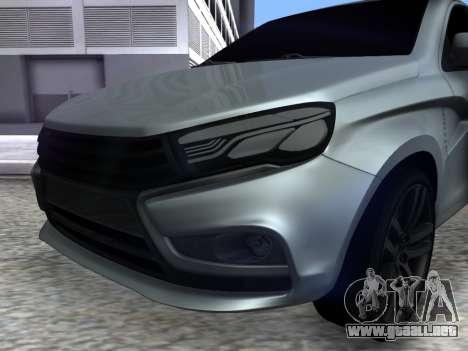 Lada Vesta HD (beta) para la visión correcta GTA San Andreas