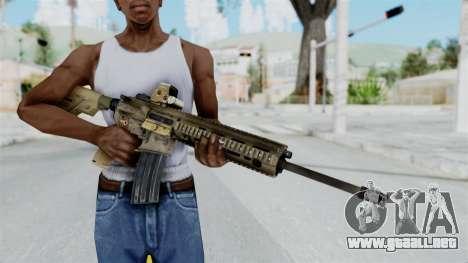 HK416A5 Assault Rifle para GTA San Andreas tercera pantalla