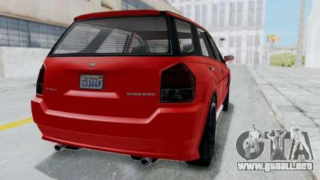 GTA 5 Benefactor Serrano para la visión correcta GTA San Andreas