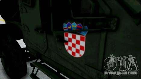 Croatian Oshkosh M-ATV Woodland para visión interna GTA San Andreas