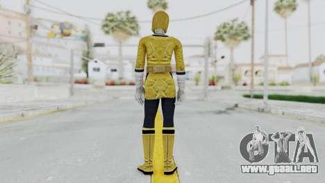 Power Rangers Samurai - Yellow para GTA San Andreas tercera pantalla