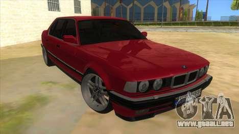 BMW E32 para GTA San Andreas vista hacia atrás