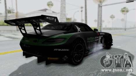 Mercedes-Benz SLS AMG GT3 PJ7 para la vista superior GTA San Andreas