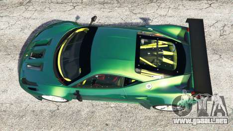 GTA 5 Ferrari 458 Italia GT2 vista trasera