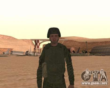 Motorizado privado rifle de tropas para GTA San Andreas séptima pantalla
