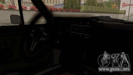 Volkswagen Golf Mk1 GTI para visión interna GTA San Andreas