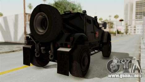 Croatian Oshkosh M-ATV Desert para GTA San Andreas left