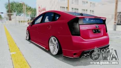 Toyota Prius 2011 Elegant Modification para la visión correcta GTA San Andreas