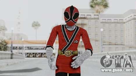 Power Rangers Samurai - Red 2 para GTA San Andreas