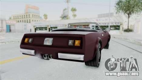 GTA VC Stinger para GTA San Andreas vista posterior izquierda