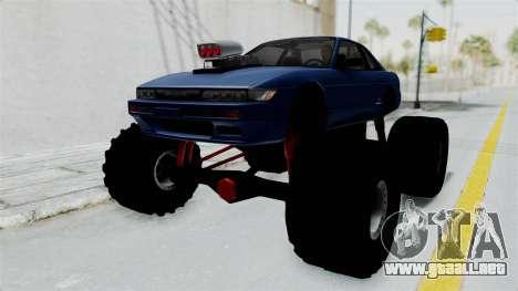 Nissan Silvia S13 Monster Truck para GTA San Andreas vista posterior izquierda