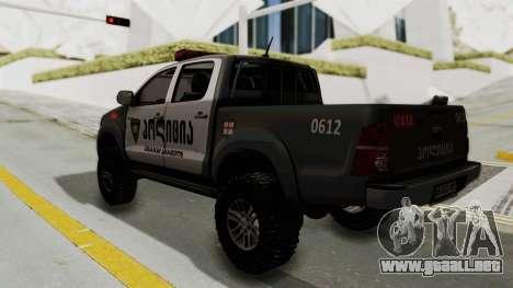 Toyota Hilux 4WD 2015 Georgia Police para GTA San Andreas left