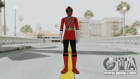 Power Rangers Samurai - Red 2 para GTA San Andreas segunda pantalla