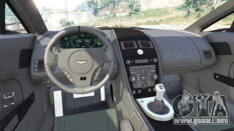 GTA 5 Aston Martin V12 Zagato vista lateral trasera derecha