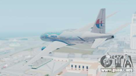 Boeing 777-2H6ER Malaysia Airlines para GTA San Andreas left