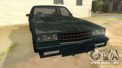 Chevrolet Monte Carlo 81 para GTA San Andreas vista hacia atrás