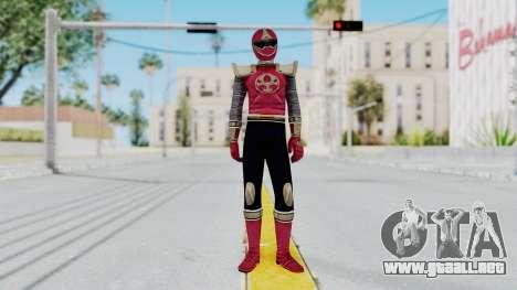 Power Rangers Ninja Storm - Crimson para GTA San Andreas segunda pantalla